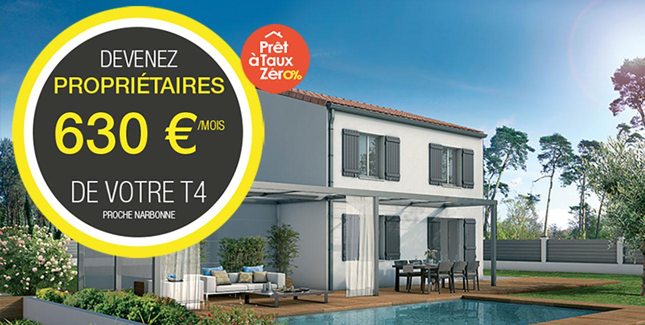 Devenez propriétaires pour 630 €/Mois avec Demeures d'Occitanie