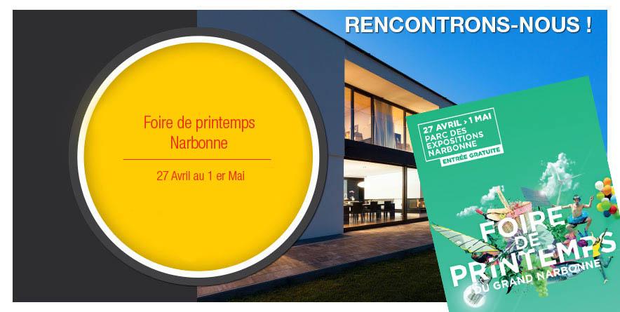 Retrouvez-nous à la Foire de Printemps de Narbonne