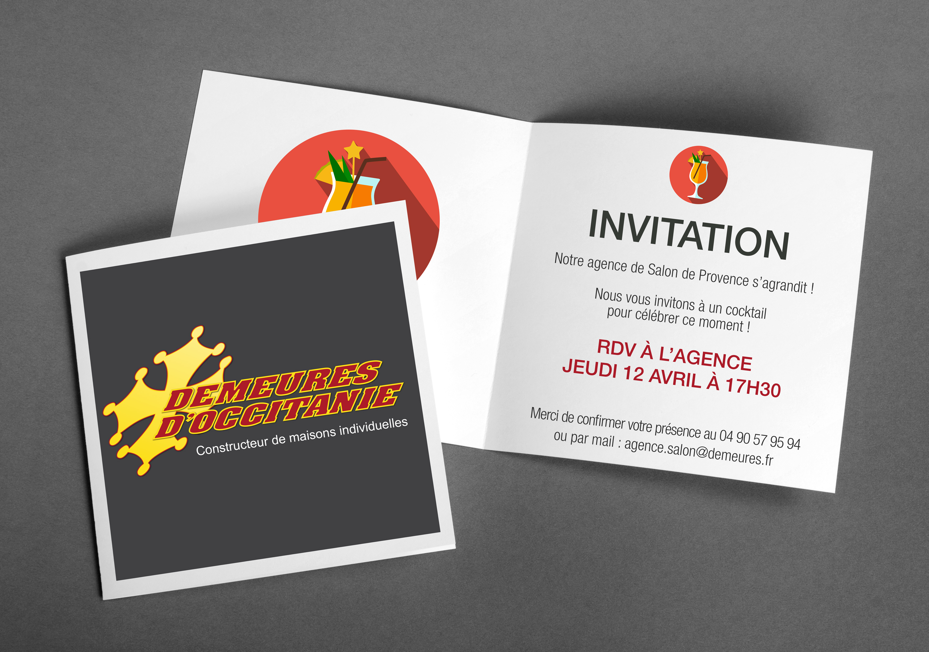 Invitation cocktail Agence de Salon de Provence