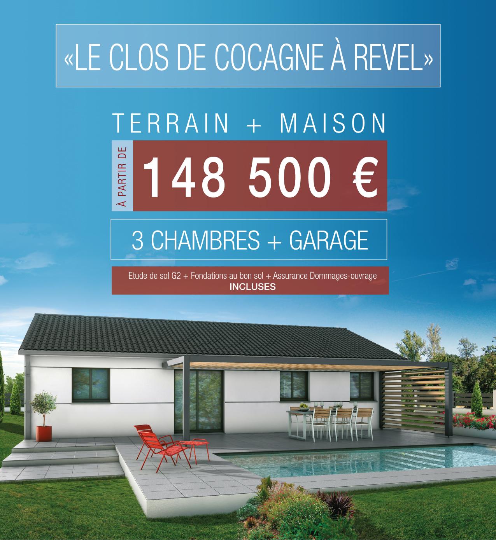 Votre maison T4 à Revel à partir de 148 500 € !