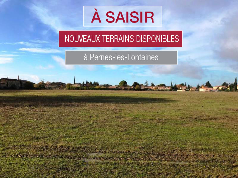 Nouveaux terrains viabilisés disponibles à Pernes-les-Fontaines en Vaucluse