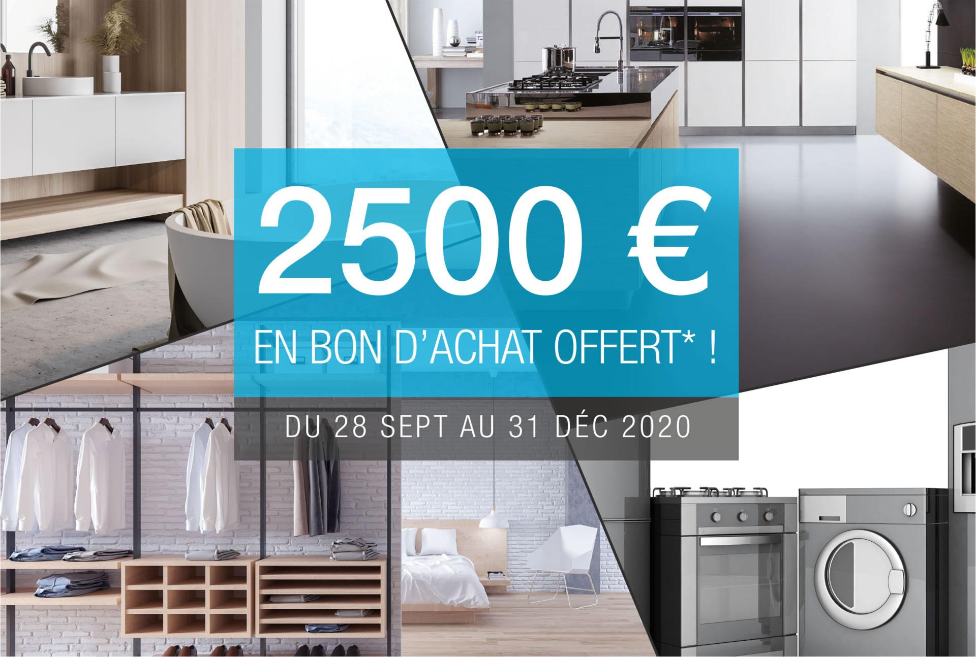 2500 € offerts en bon d'achat