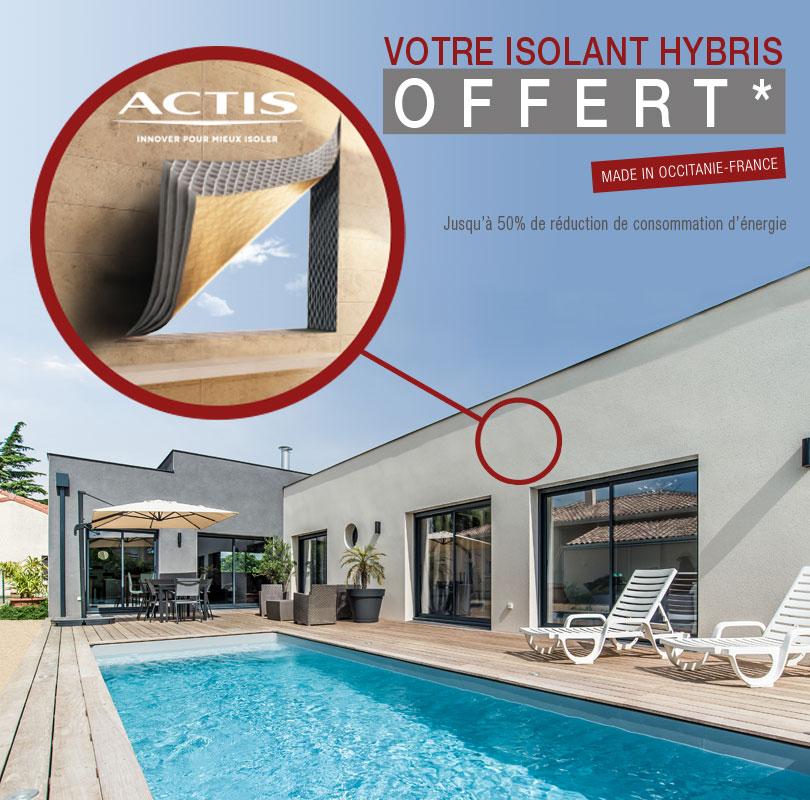 Isolation Hybris d'Actis offerte pour toute construction !
