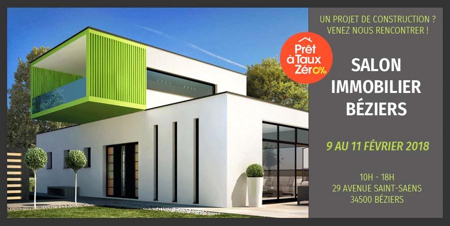 Rencontrez nous au Salon de l'immobilier de Béziers du 9 au 11 Février 2018
