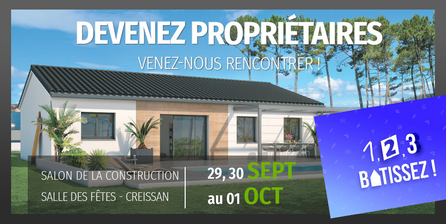 Maisons Bati France au salon de la Construction de Creissan