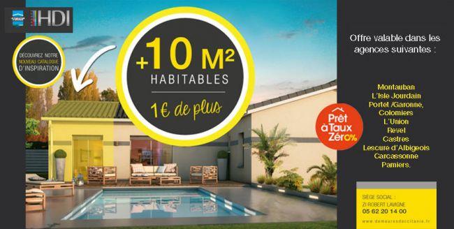 Profitez de 10 m2 habitables supplémentaires pour 1 euro de plus !