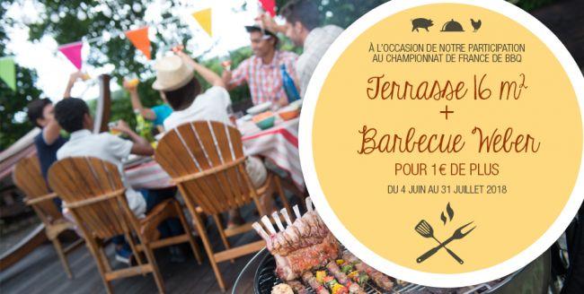 Demeures d'Occitanie vous offre une terrasse + un barbecue Weber !