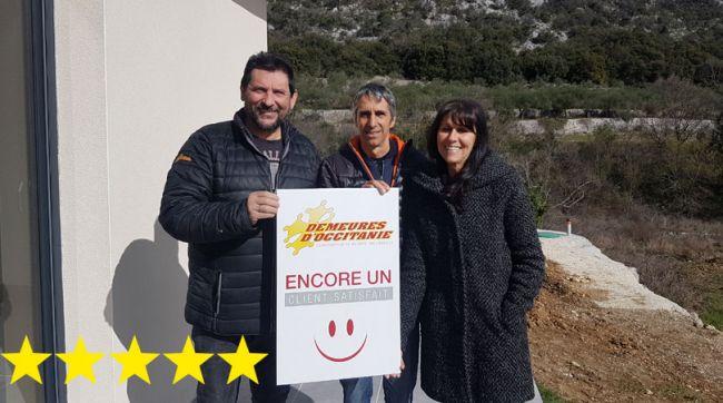 Clients satisfaits pour une construction de maison à Cadière-et-Cambo