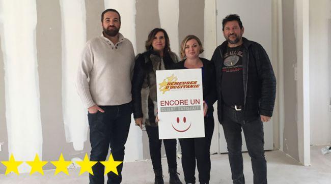 Clients satisfaits pour une construction Demeures d'Occitanie à Gigean