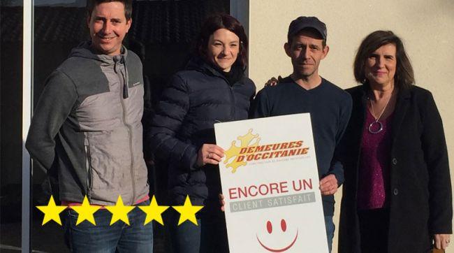 Clients satisfaits de leur construction et de nos équipes Demeures d'Occitanie