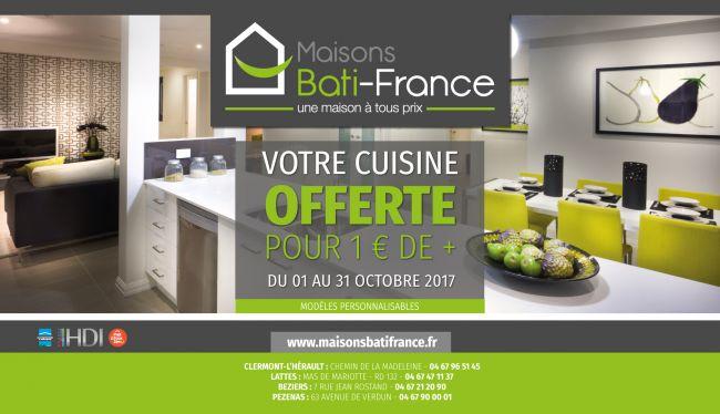 Votre cuisine offerte pour 1 euro de plus !