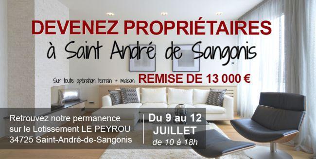 Devenez propriétaires à Saint-André-de-Sangonis