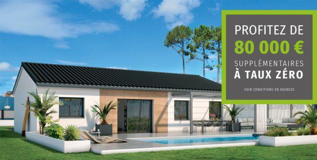Construire sa maison avec 80 000 € à 0% en plus de votre Prêt !