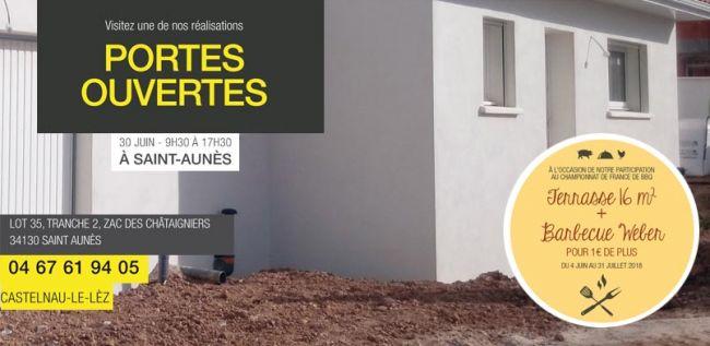 Portes ouvertes  le 30 Juin de 9h30 à 17H30 SAint Aunès