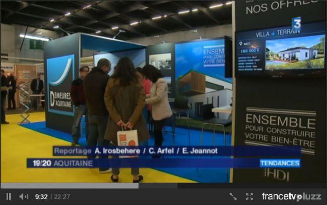 Demeures d'Aquitaine sur France 3 édition régionale Aquitaine - Salon de la Maison Neuve