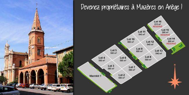 Terrains à vendre en exclusivité à Mazères, en Ariège