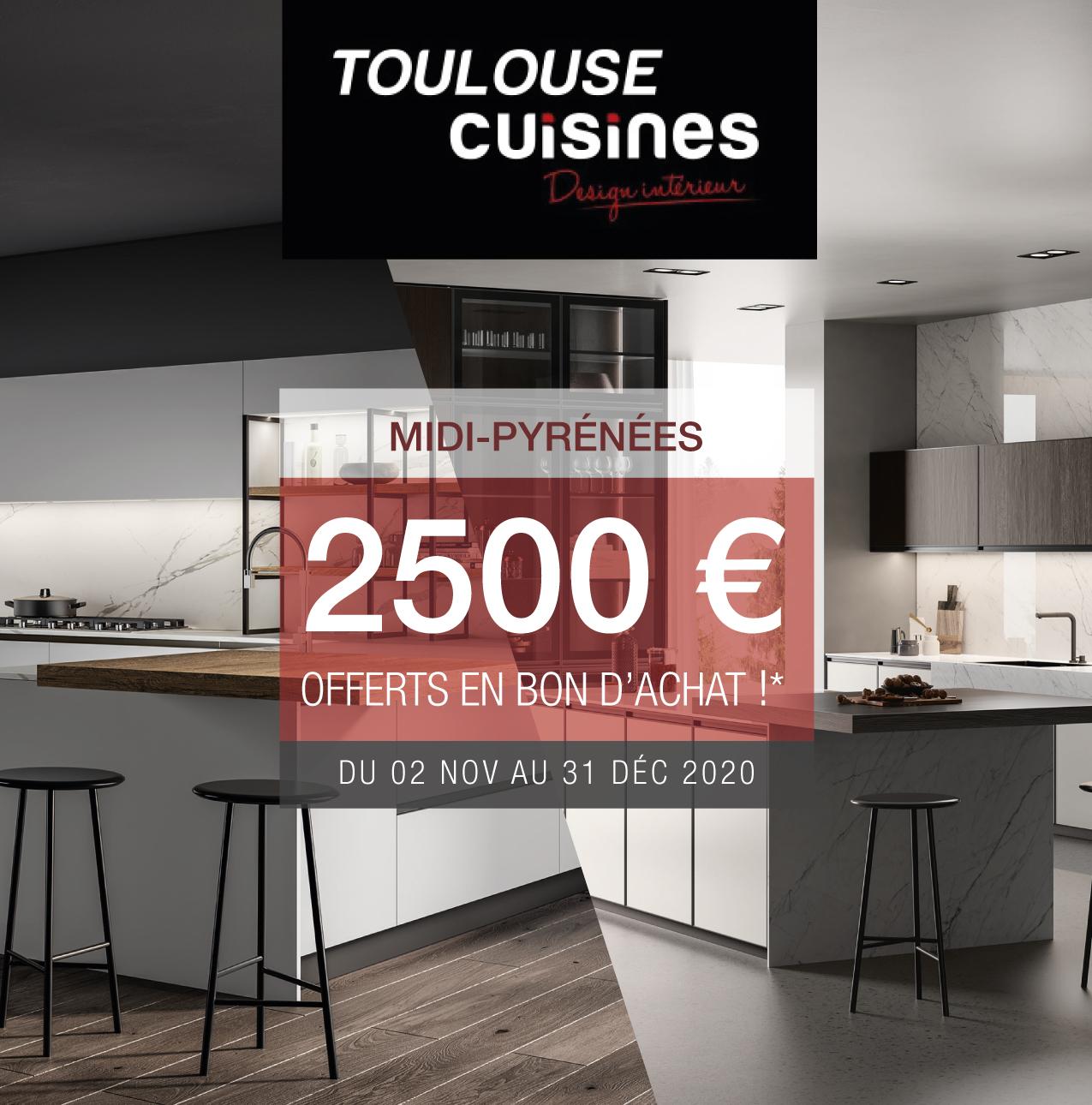 2500 € offerts en bon d'achat sur votre cuisine