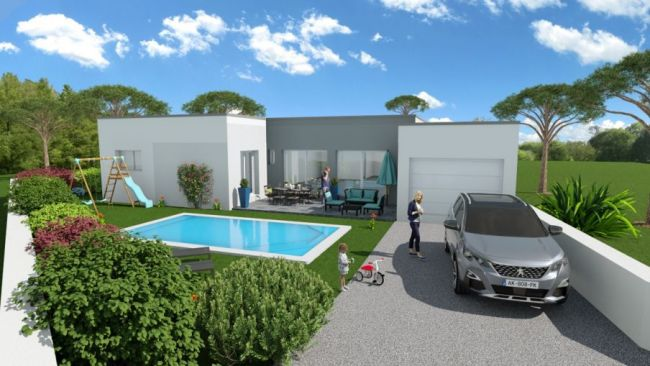 Villa contemporaine de 127m² 4 chambres + grand garage 34440 Colombiers