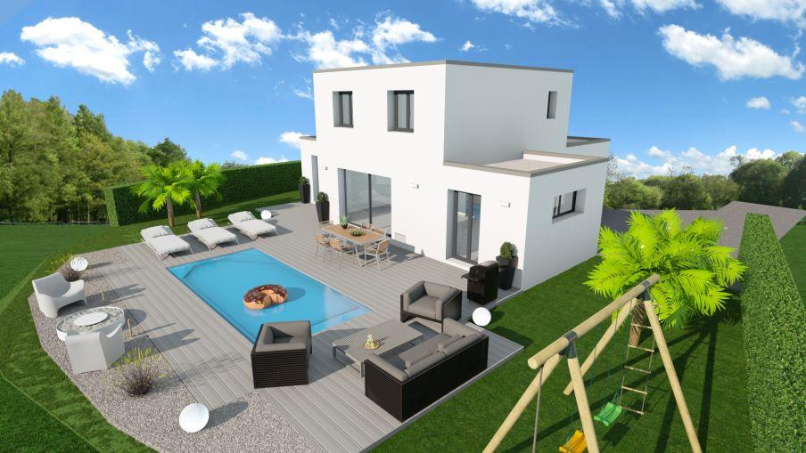 Maison neuve contemporaine à construire Mèze Hérault (34140) - Constructeur Pignan (34)