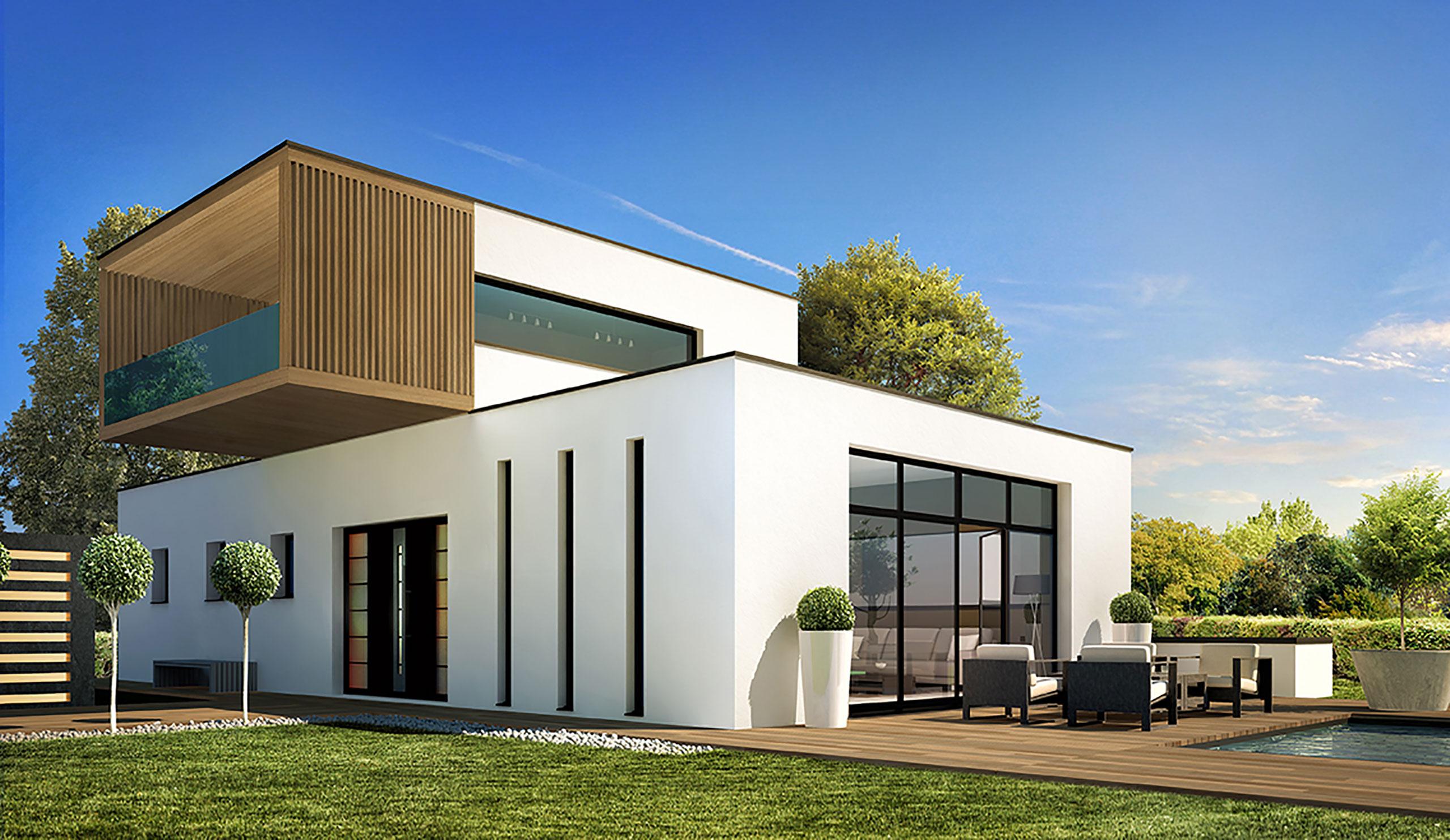 Porche D Entrée Maison Contemporaine ancien modèle maison contemporaine séquoia - demeures d
