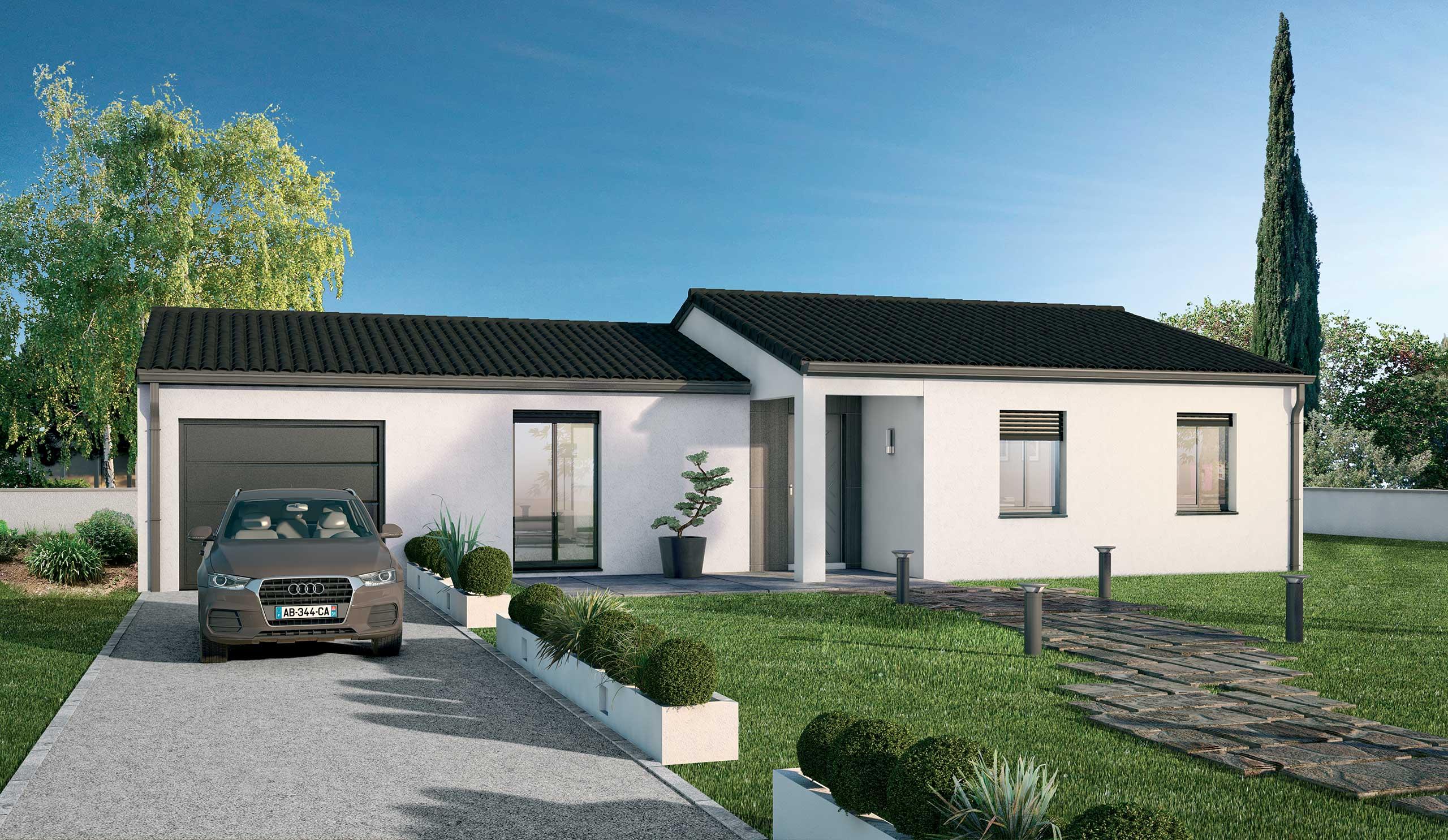 Maison Contemporaine Plain Pied Lilas Avec Plans Demeures D Occitanie Constructeur Maison Individuelle Occitanie Region Sud