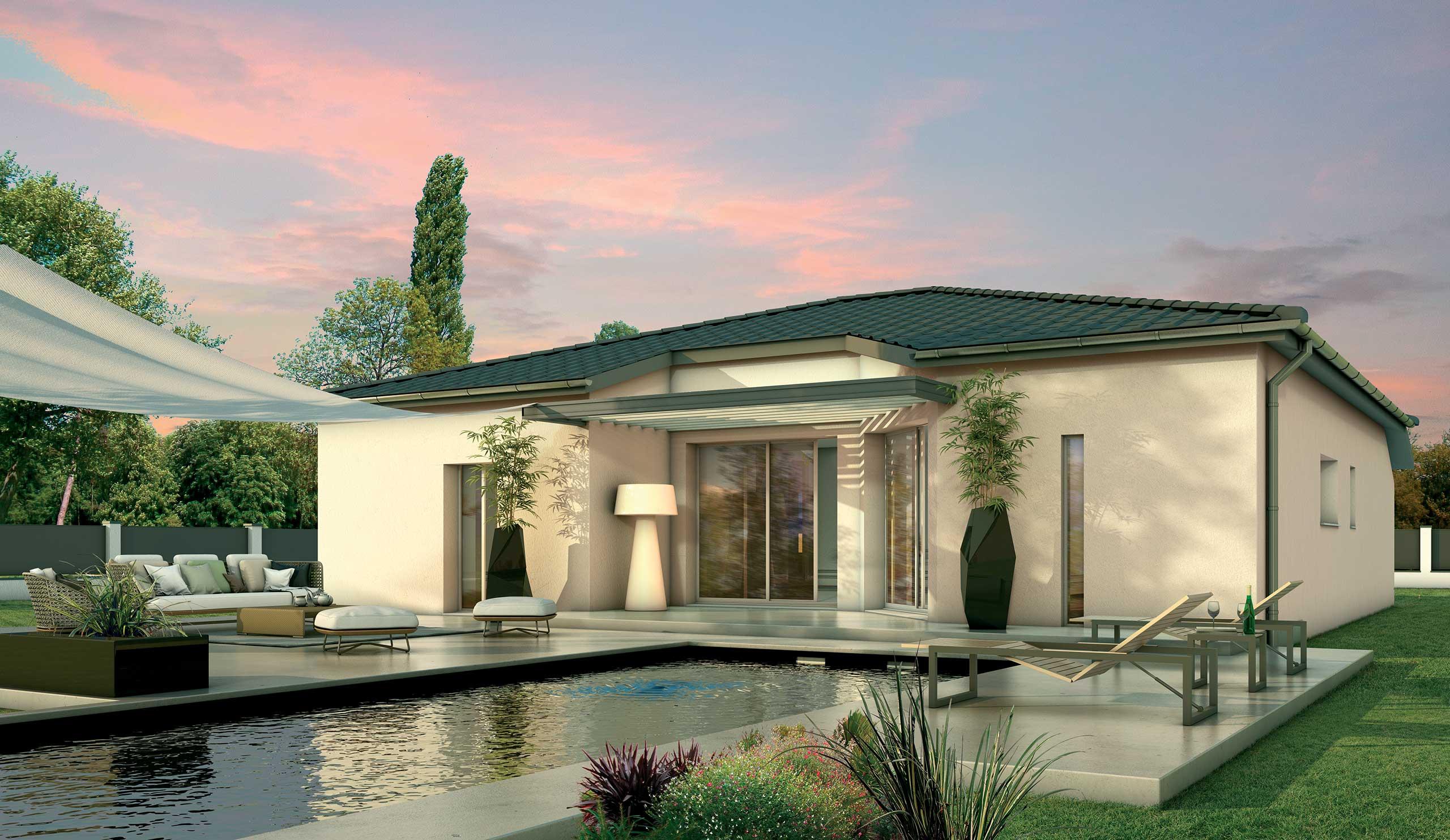 Maison contemporaine plain-pied Orme avec plans - Demeures d ...