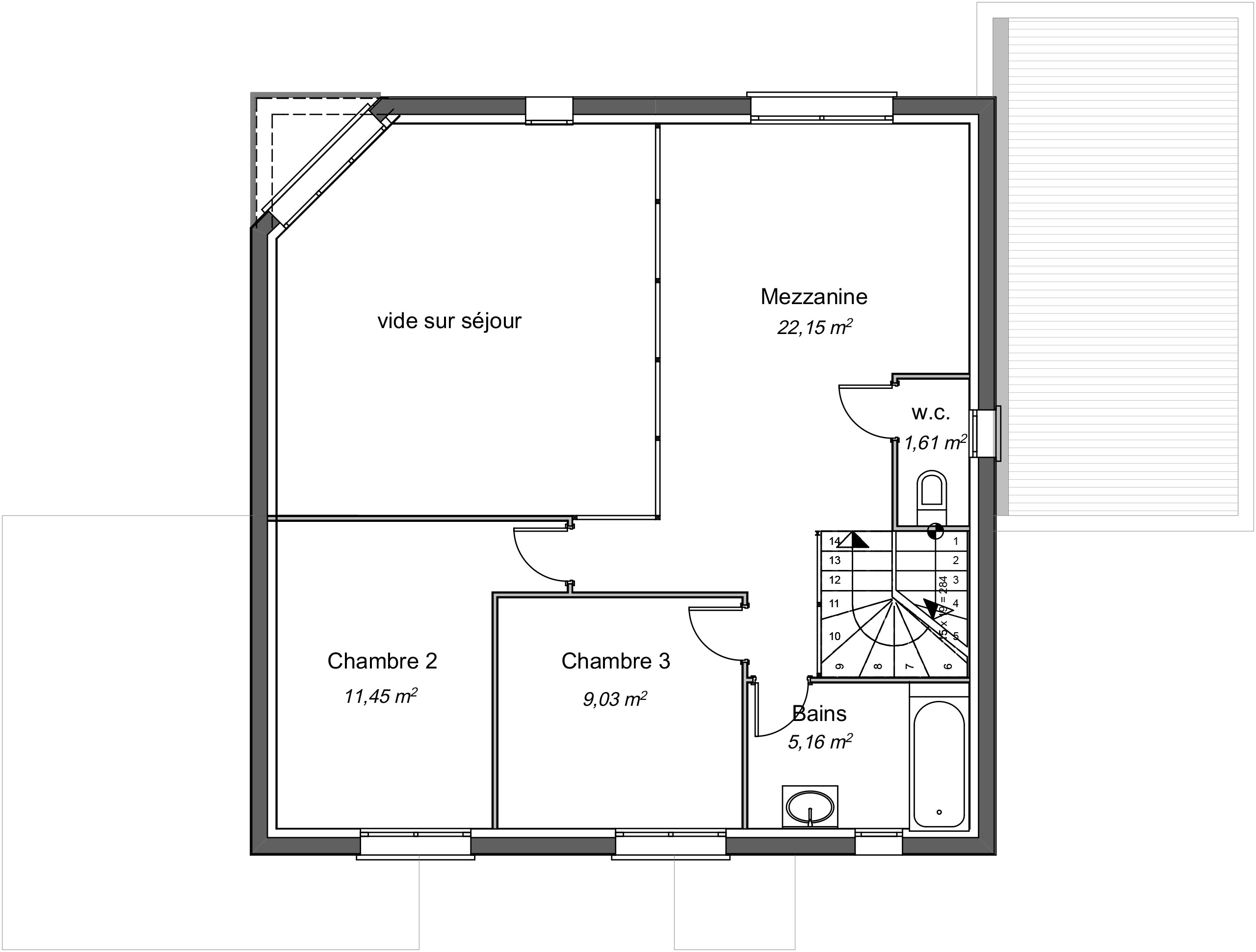 Maison Contemporaine Etage Baobab Avec Plans Demeures D Occitanie Constructeur Maison Individuelle Occitanie Region Sud