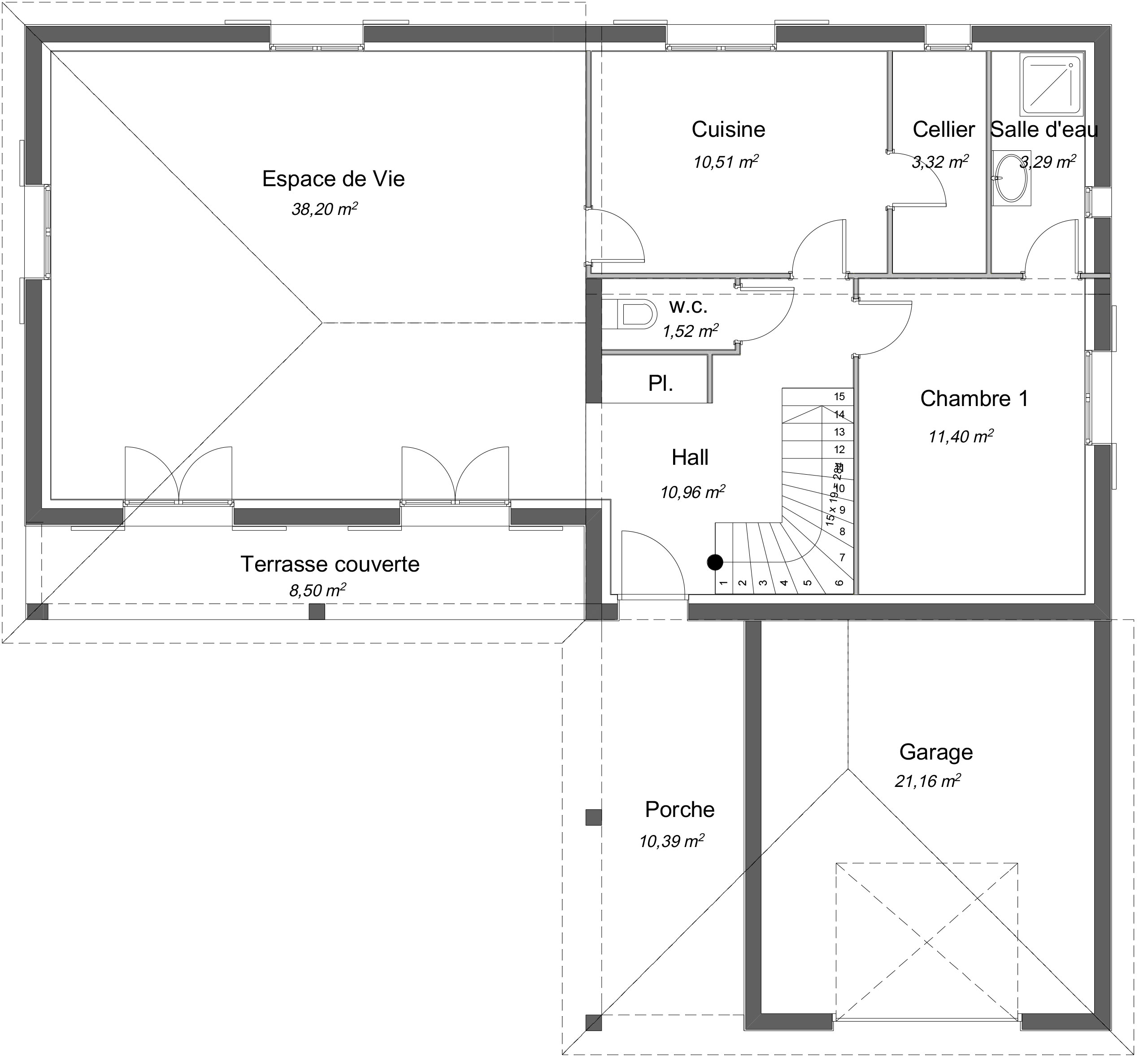 Maison traditionnelle Étage Charme avec plans - Demeures d'Occitanie Constructeur maison ...