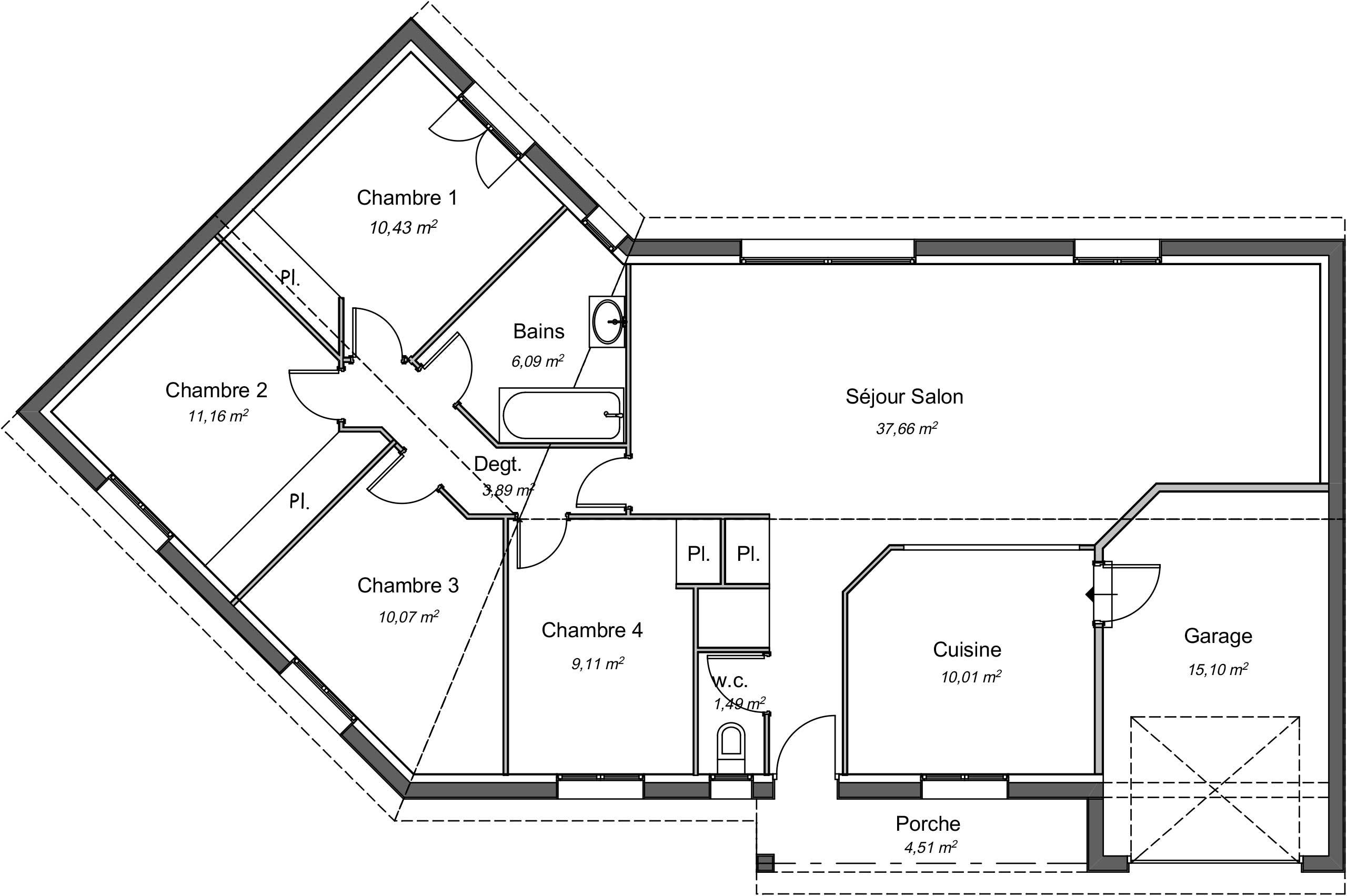 Maison Contemporaine Plain Pied Ebene Avec Plans Demeures D Occitanie Constructeur Maison Individuelle Occitanie Region Sud