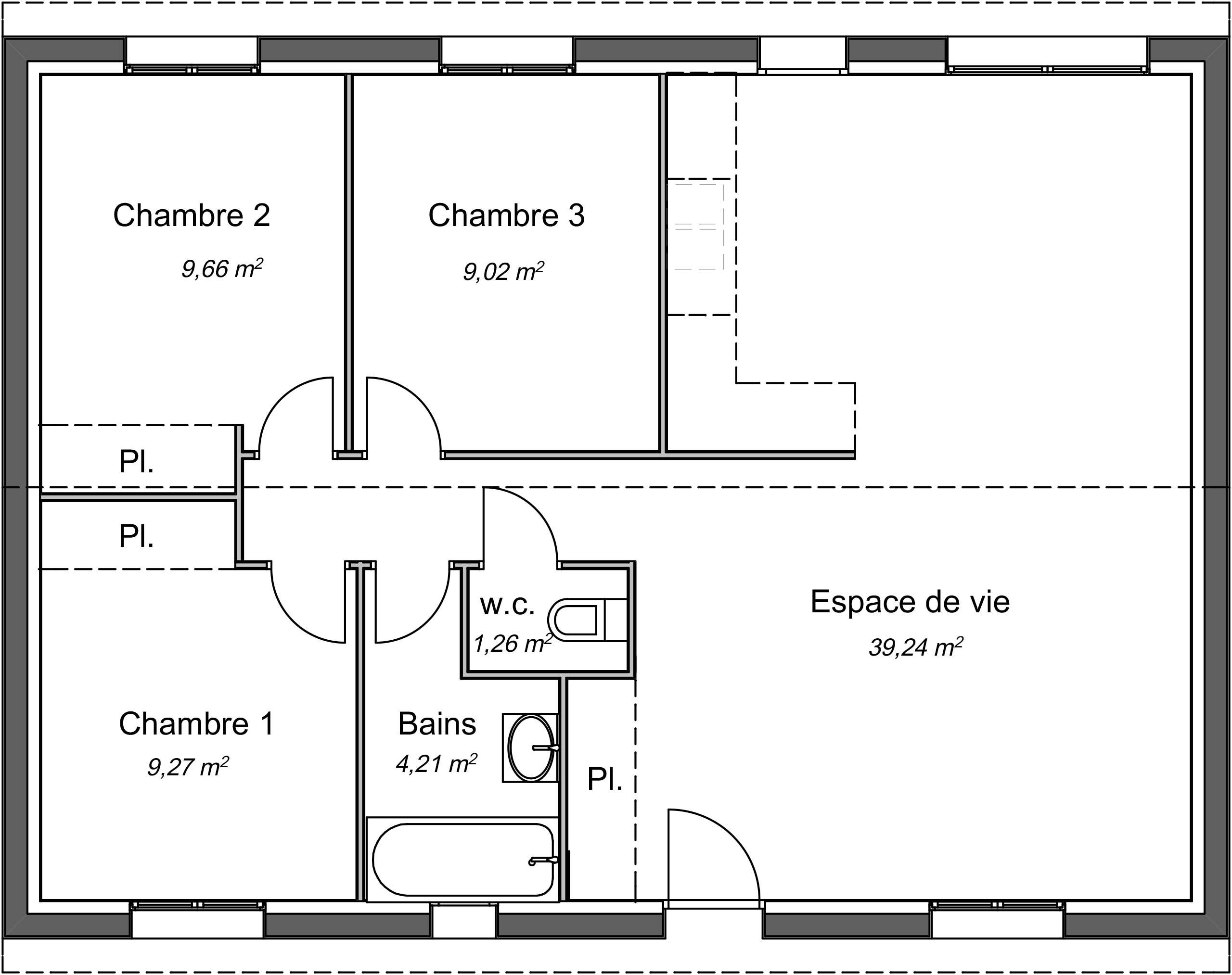 Maison Contemporaine Plain Pied Magnolia Avec Plans Demeures D Occitanie Constructeur Maison Individuelle Occitanie Region Sud
