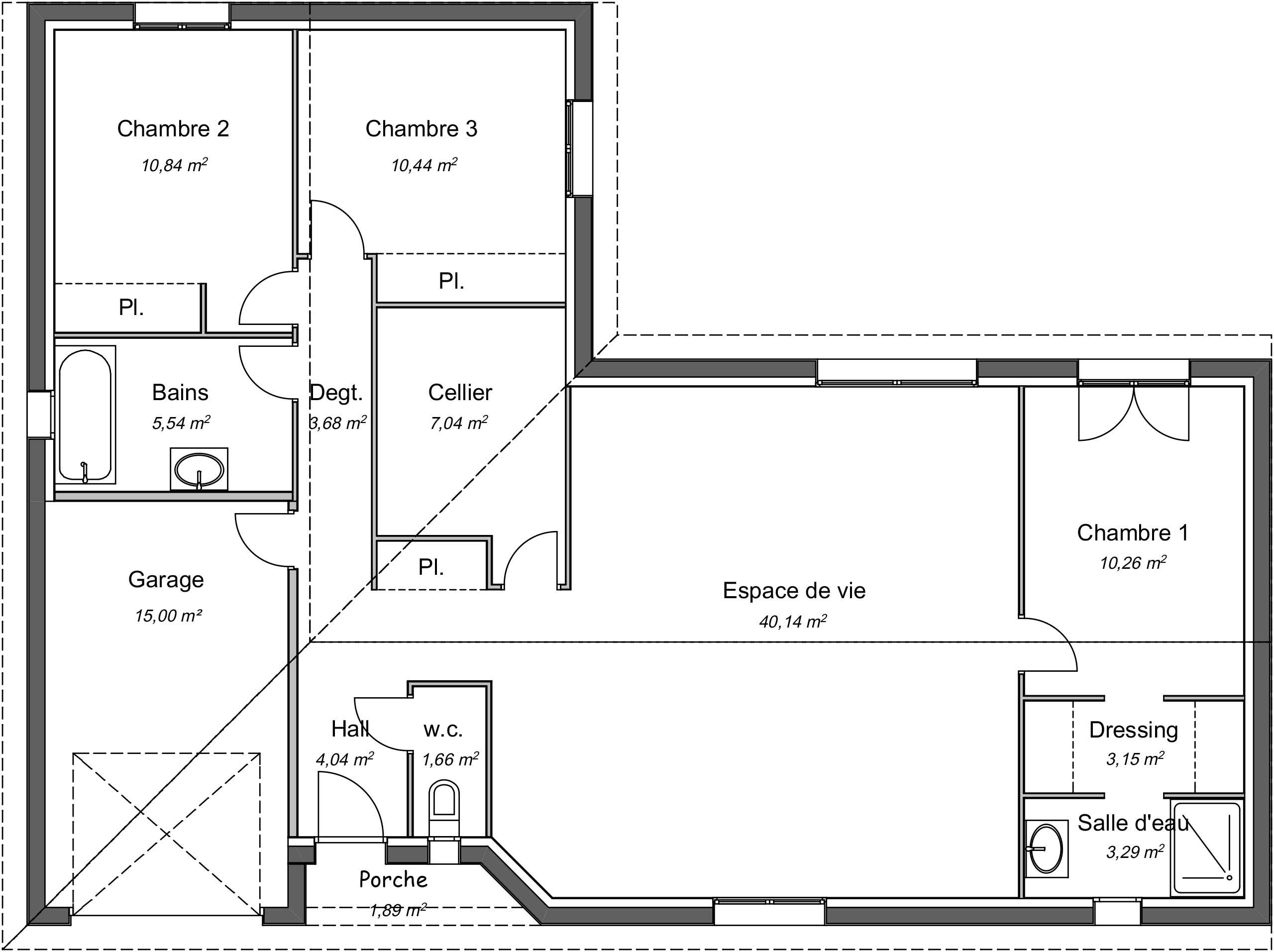 Maison Contemporaine Plain Pied Meleze Avec Plans Demeures D Occitanie Constructeur Maison Individuelle Occitanie Region Sud