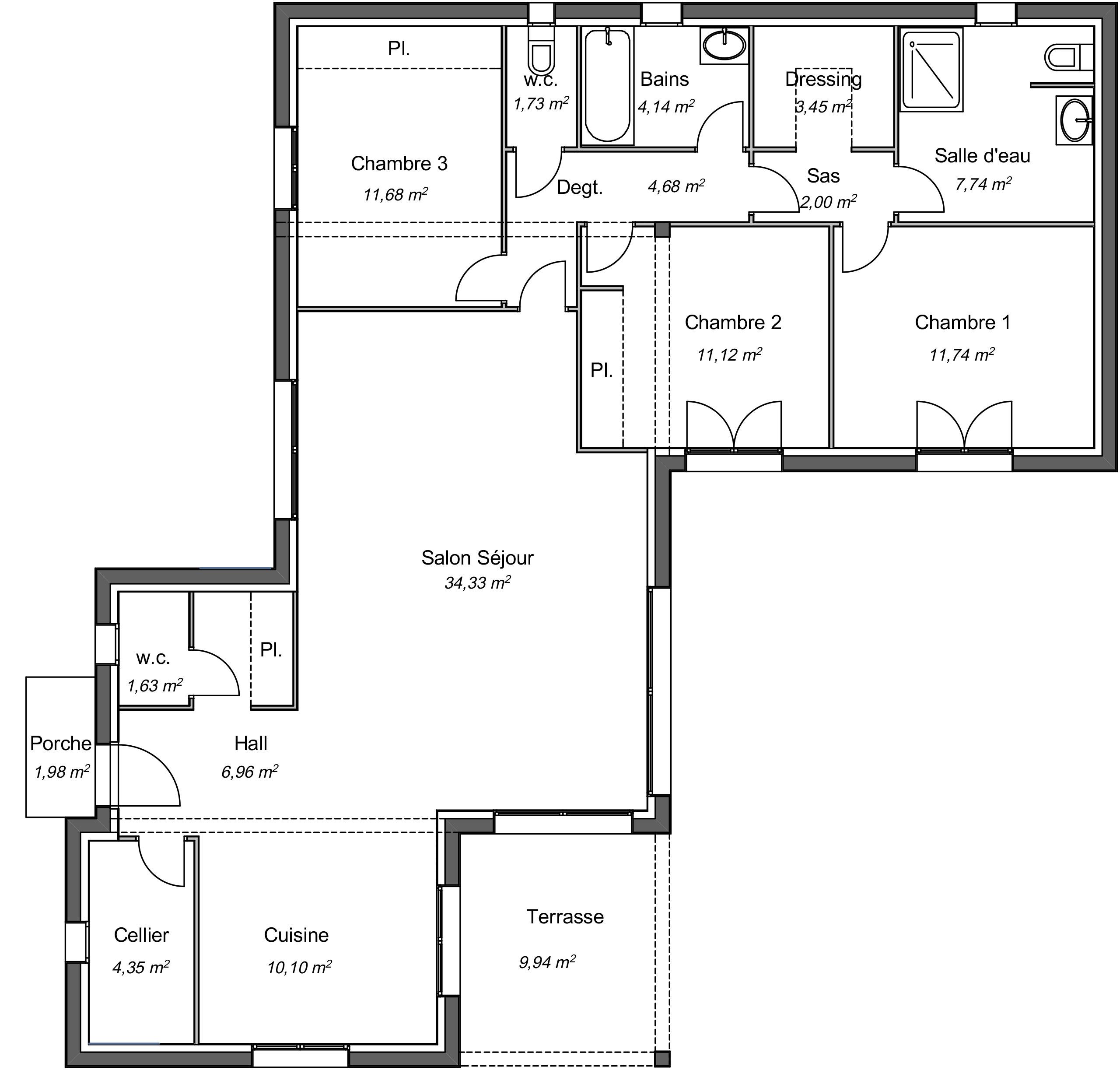 Plan De Maison Moderne maison contemporaine plain-pied seringat avec plans